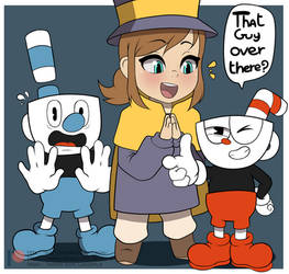 Cupbros And Hat kid by lazy-Time