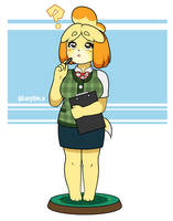 Isabelle - Animal crossing by lazy-Time