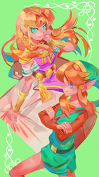 zelda and link by ran-ran-ruuu