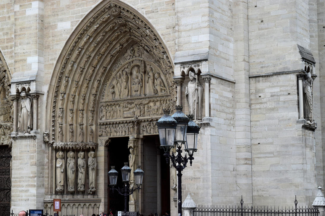 Notre Dame - Archways by Caine-of-Nod