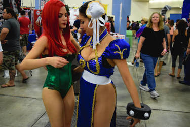 Behind the Scenes with Poison Ivy and Chun Li