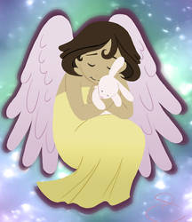 Angelic Bunny by flyingpiggie
