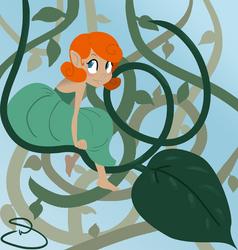 Sitting on a Leaf by flyingpiggie