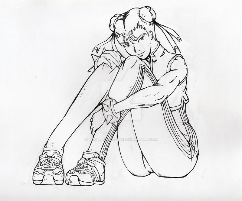 Chun-Li sketch by Tico-Illustrations