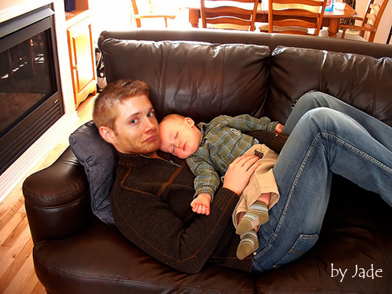 Jensen and his baby manip by monkeyJadeJensen Ackles Baby