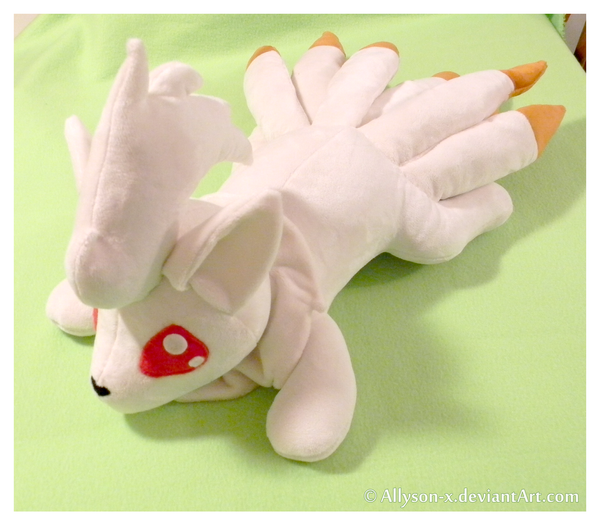 Ninetails Minky Plushie by Allyson-x