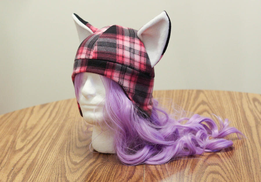 Pink Plaid Fox by Allyson-x