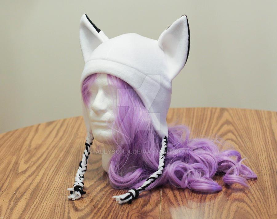 White Fox Hat Braided by Allyson-x