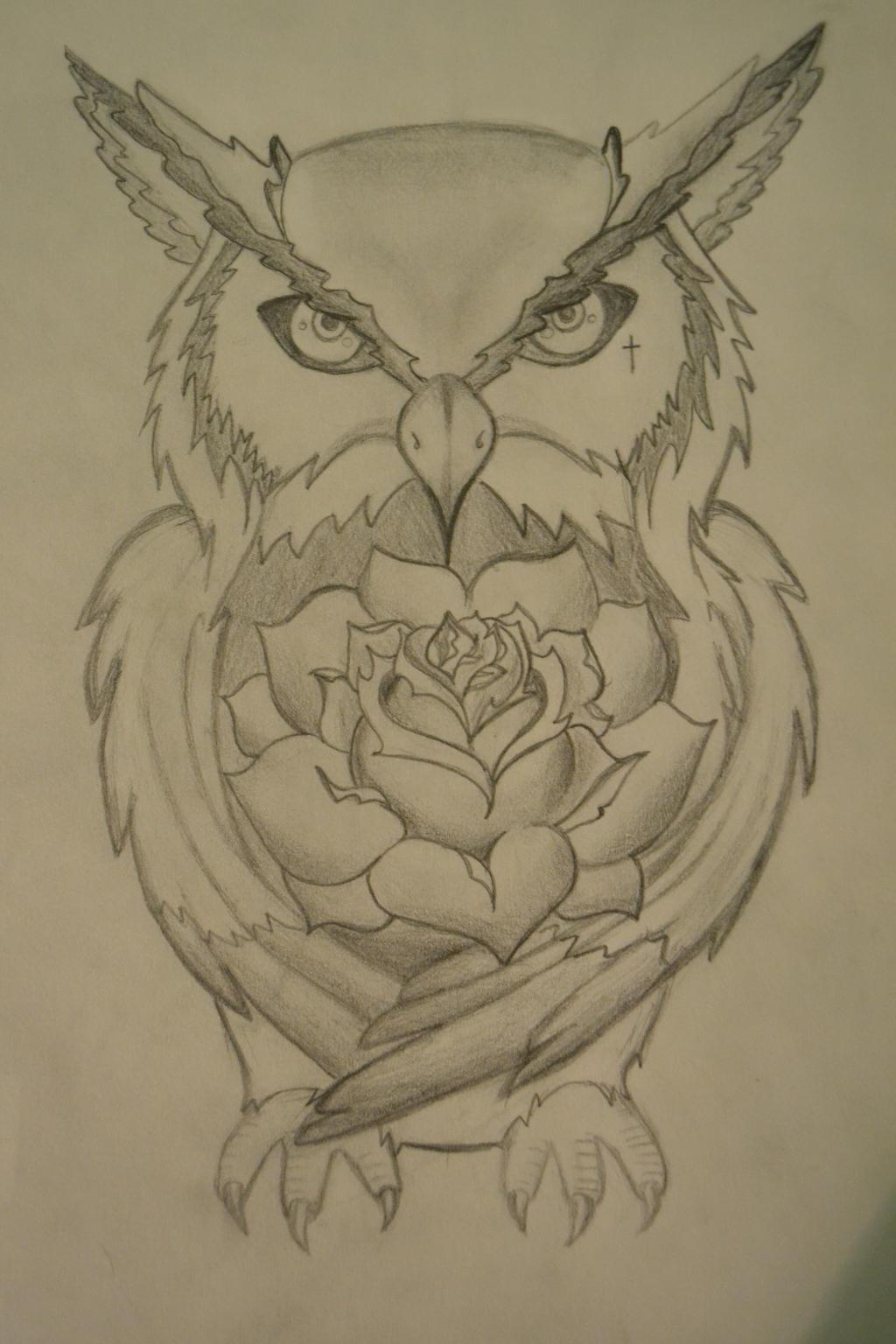 owl tattoo design by cr0wdedmind on deviantart. Black Bedroom Furniture Sets. Home Design Ideas