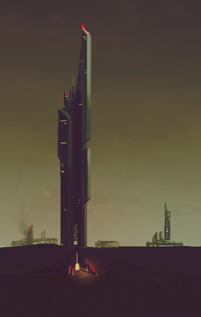 enviro concept: drilling tower by salamandersoup