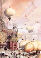 The Airship Docks by SpikedMcGrath