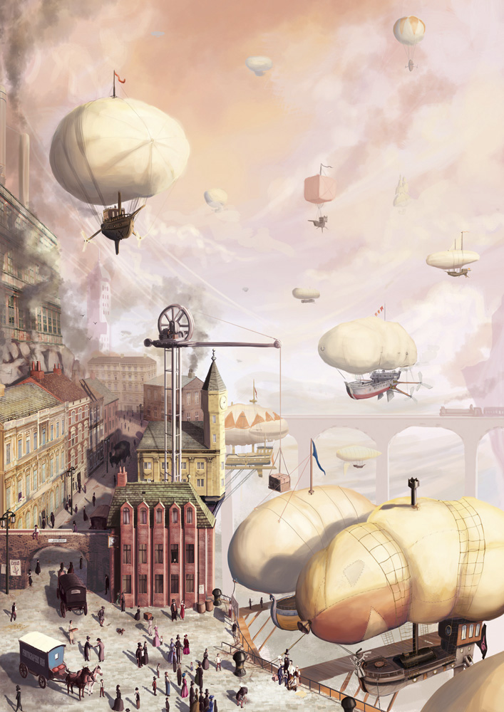 The Airship Docks by SpikedMcGrath