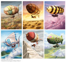 Some Airships of Oberon by SpikedMcGrath
