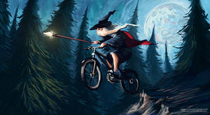 Wizard on a bike by SpikedMcGrath