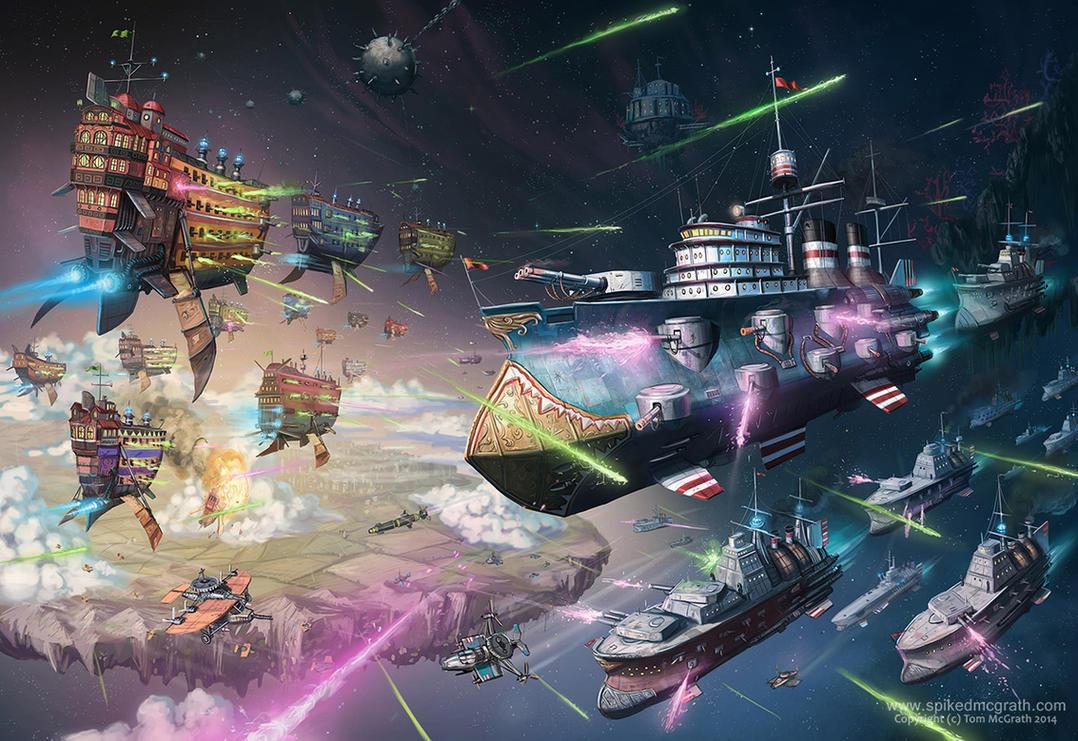 Fleet Action by SpikedMcGrath