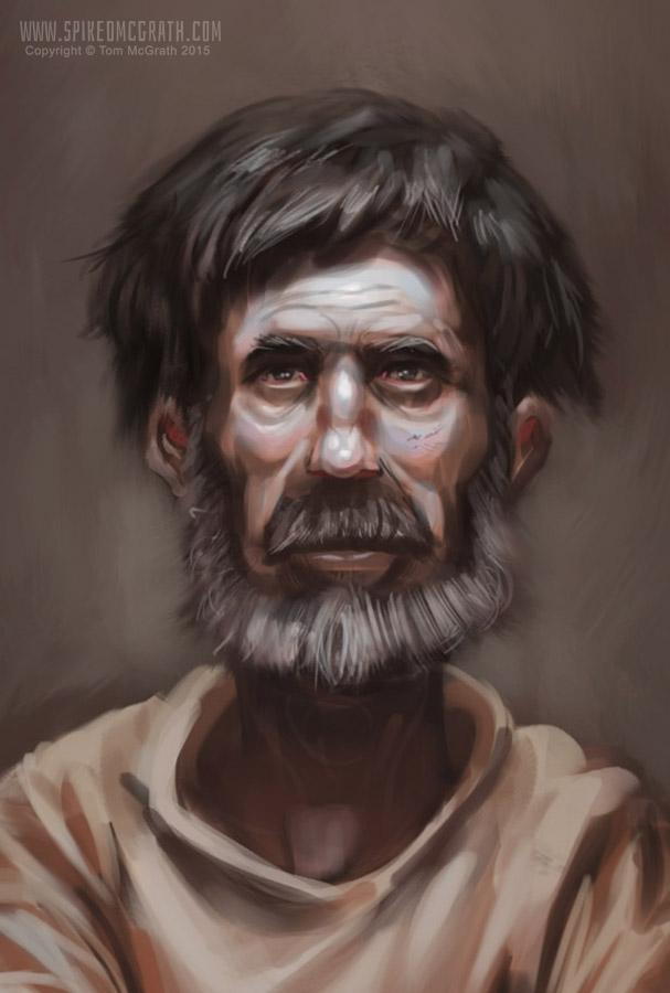 Monk Portrait by SpikedMcGrath