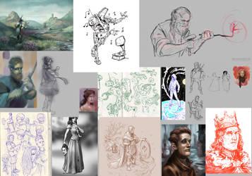 Sketchdump 01 Pt1 by SpikedMcGrath