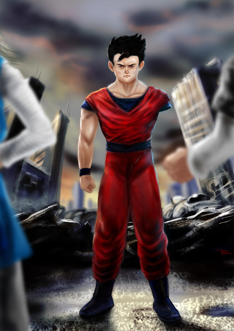 Gohan's last stand by r-dario