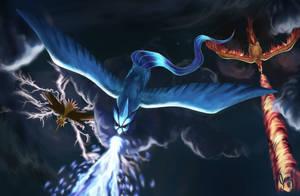 Zapdos,Articuno,Moltres [Legendary Birds Fanart] by XhiliJP