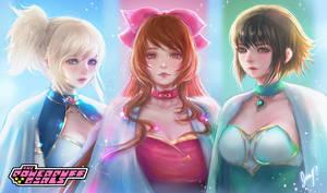 Powerpuff Magical Knights - Powerpuff Girls Fanart by XhiliJP