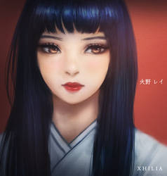 Sailor Mars Rei Hino - Sailor Moon Fanart by XhiliJP