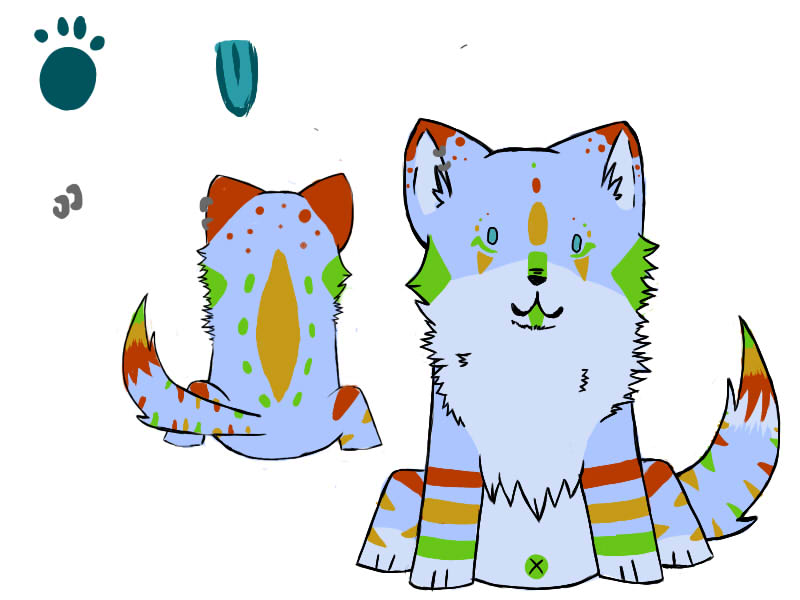 Saru reference sheet.- by glowy-colors-lova-8D