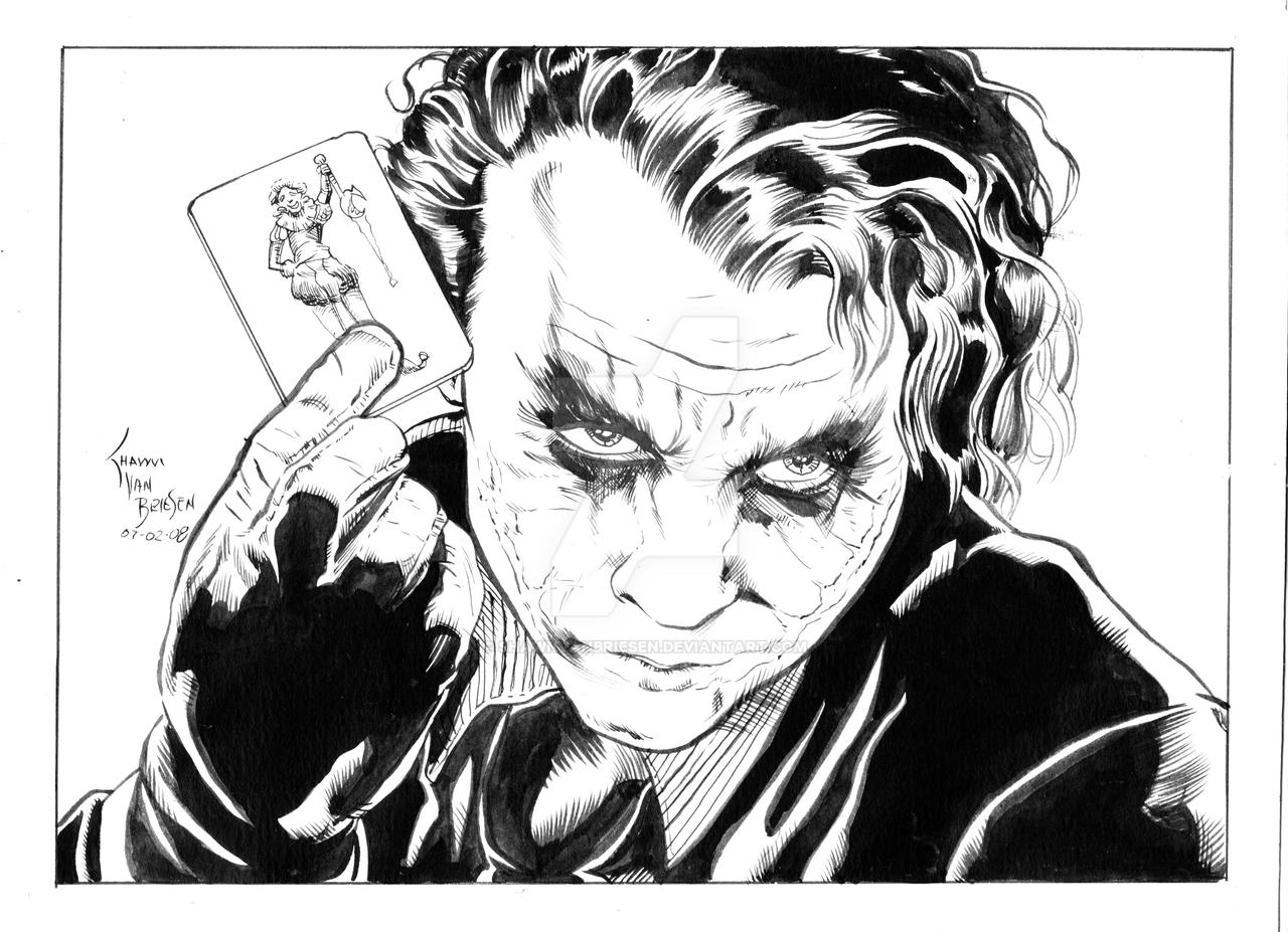 Line Art Images : The joker line art by shawnvanbriesen on deviantart