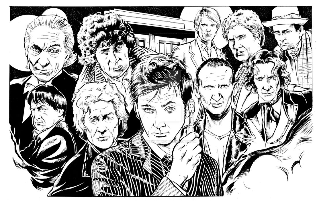 Doctor Who Line Art by ShawnVanBriesen
