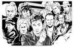 Doctor Who Line Art