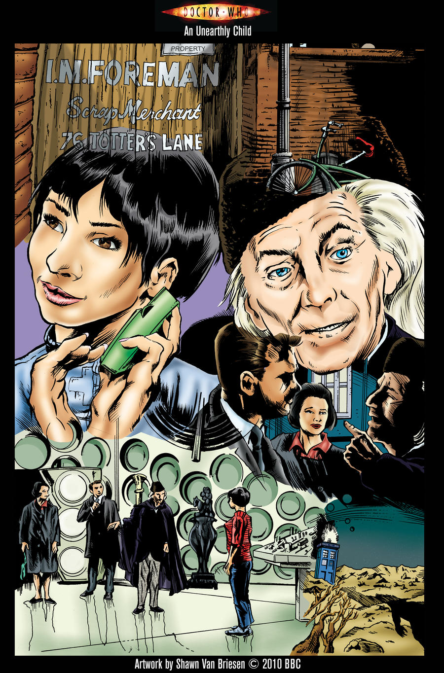 An Unearthly Child Doctor Who by ShawnVanBriesen