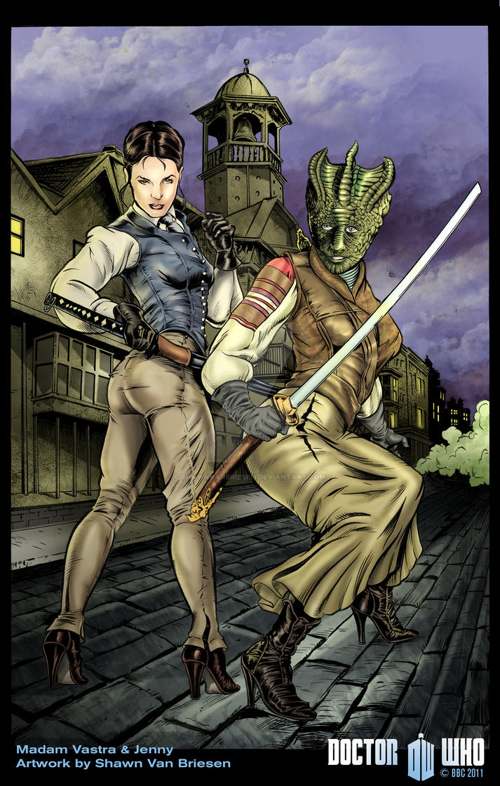 Madam Vastra and Jenny by ShawnVanBriesen