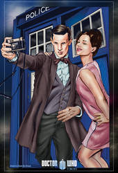 Doctor and Clara Selfie by ShawnVanBriesen