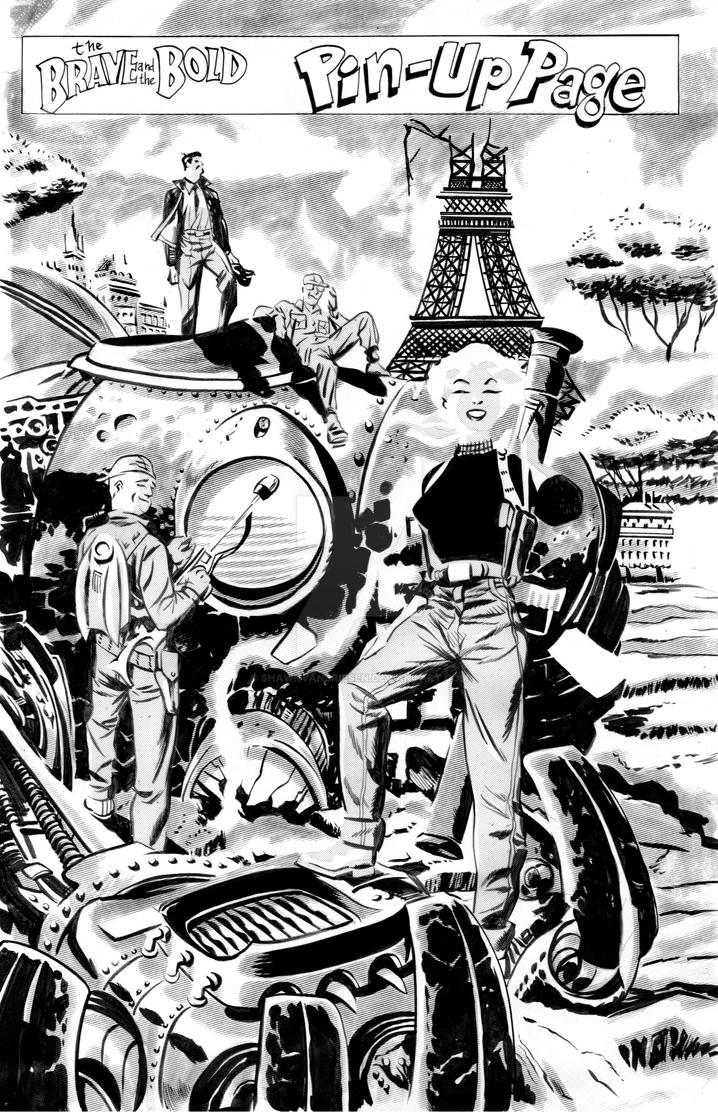 Darwyn Cooke New Frontier homage commission by ShawnVanBriesen