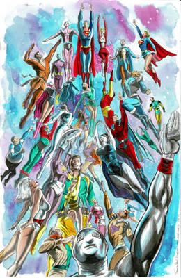 Legion of Superheroes recreation
