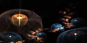 Lanterns in the Night