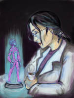 Cortana and Dr Halsey by UnderTallTrees