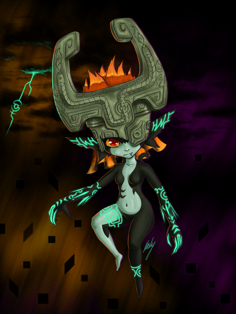 Midna in Twilight Sky by k1llerRabbit