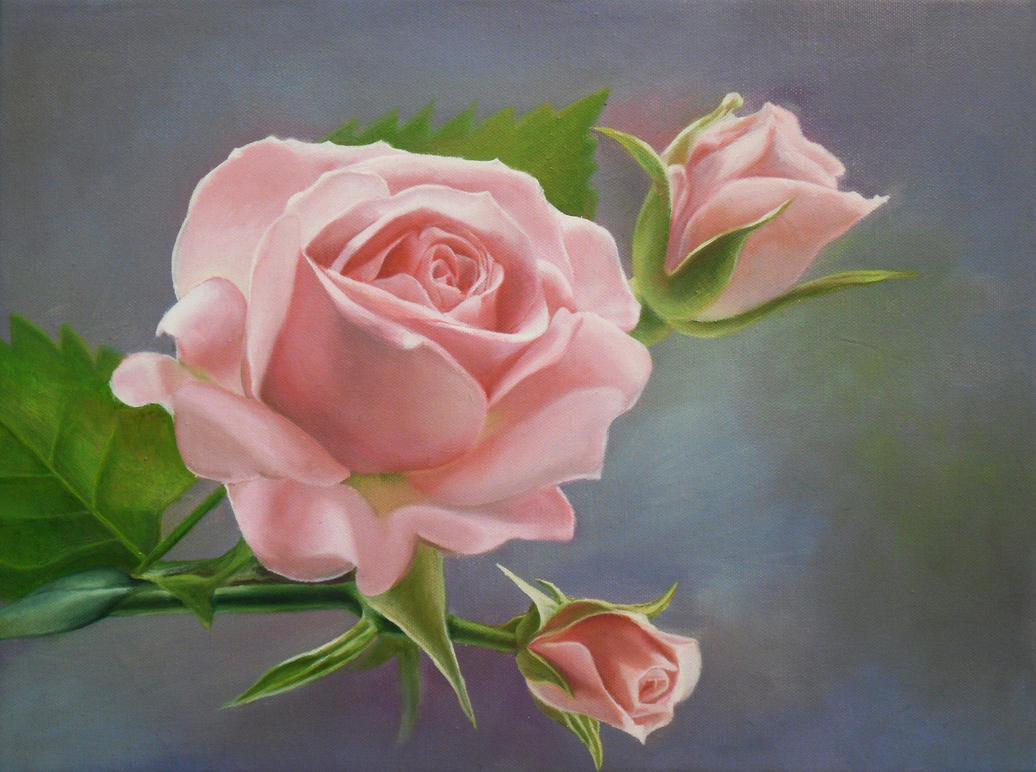 Roses Painting For Walls