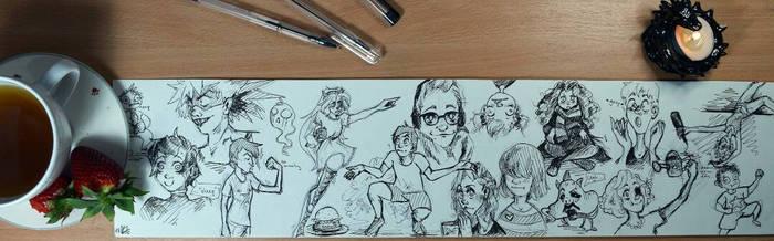 Doodly doodly doo~ by LiliandraW