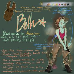 Beth (Ameiva) - character sheet by LiliandraW