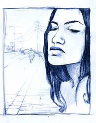 Blue road. by Mielytu