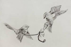 Feed the birds by Mielytu