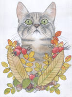 Feline Autumn by gifdot