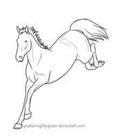 Irish Sport Horse Lines - alt by Greatalmightyqueen