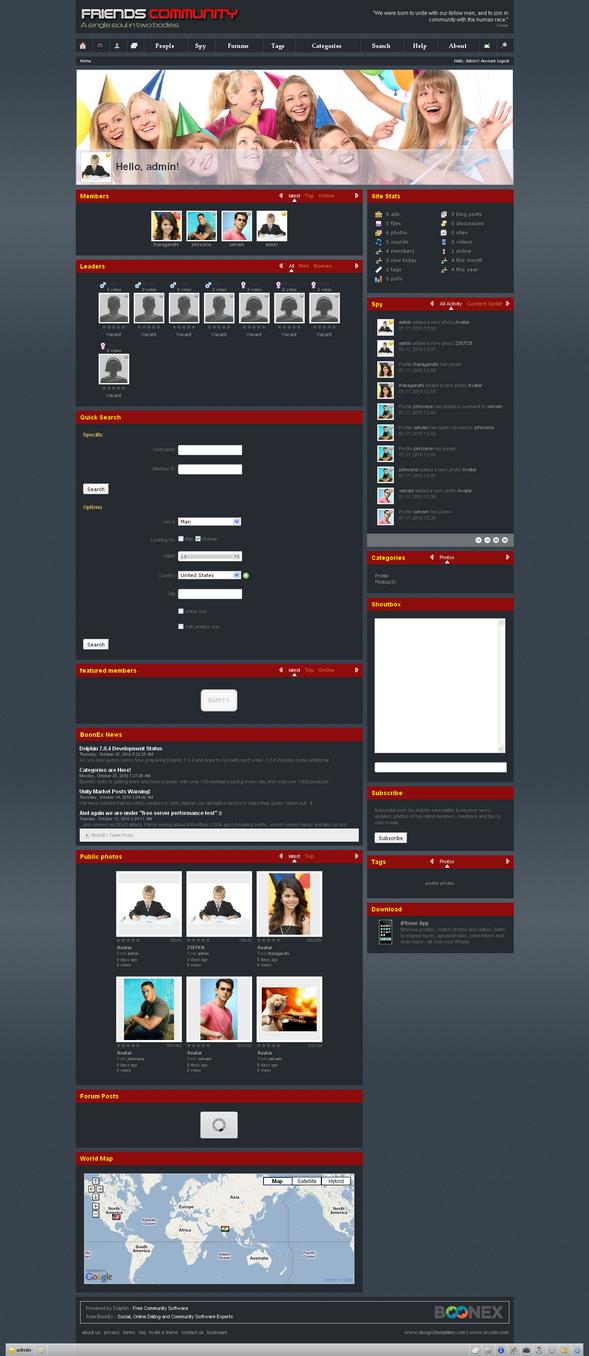 boonex dolphin templates by design2templates on DeviantArt