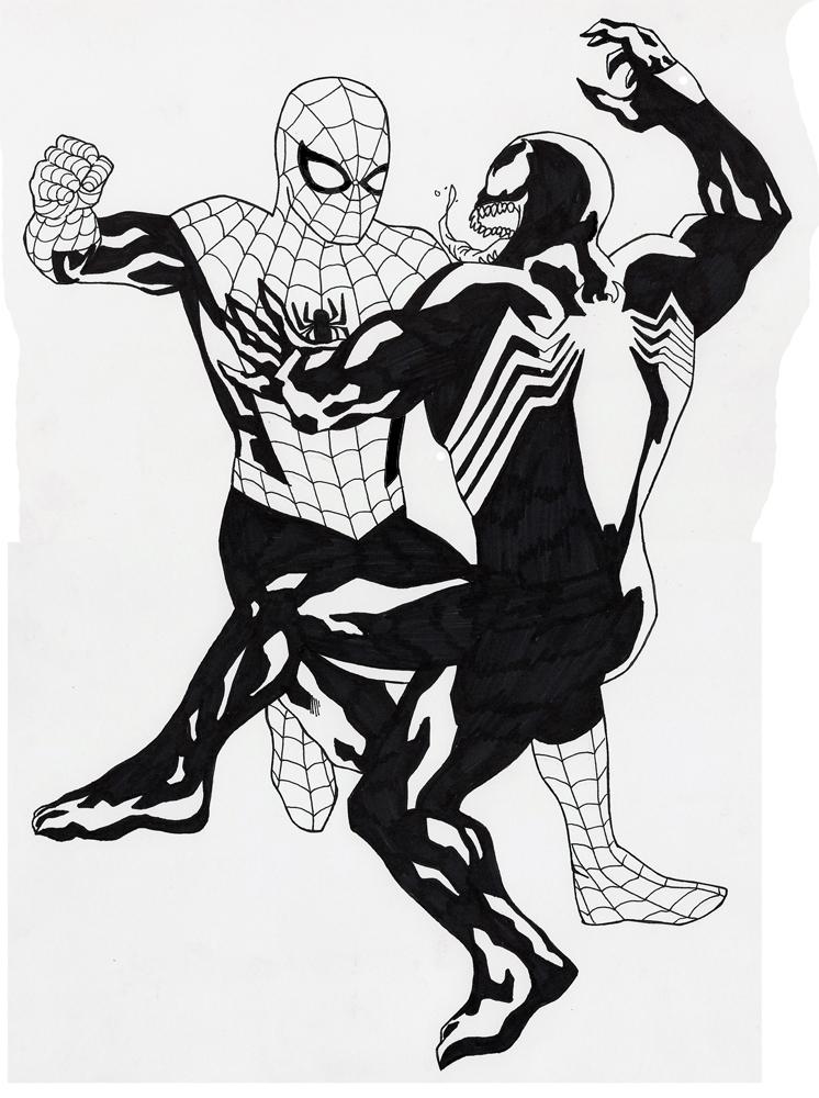 Spider man vs venom by arcarsenal on deviantart - Coloriage venom ...