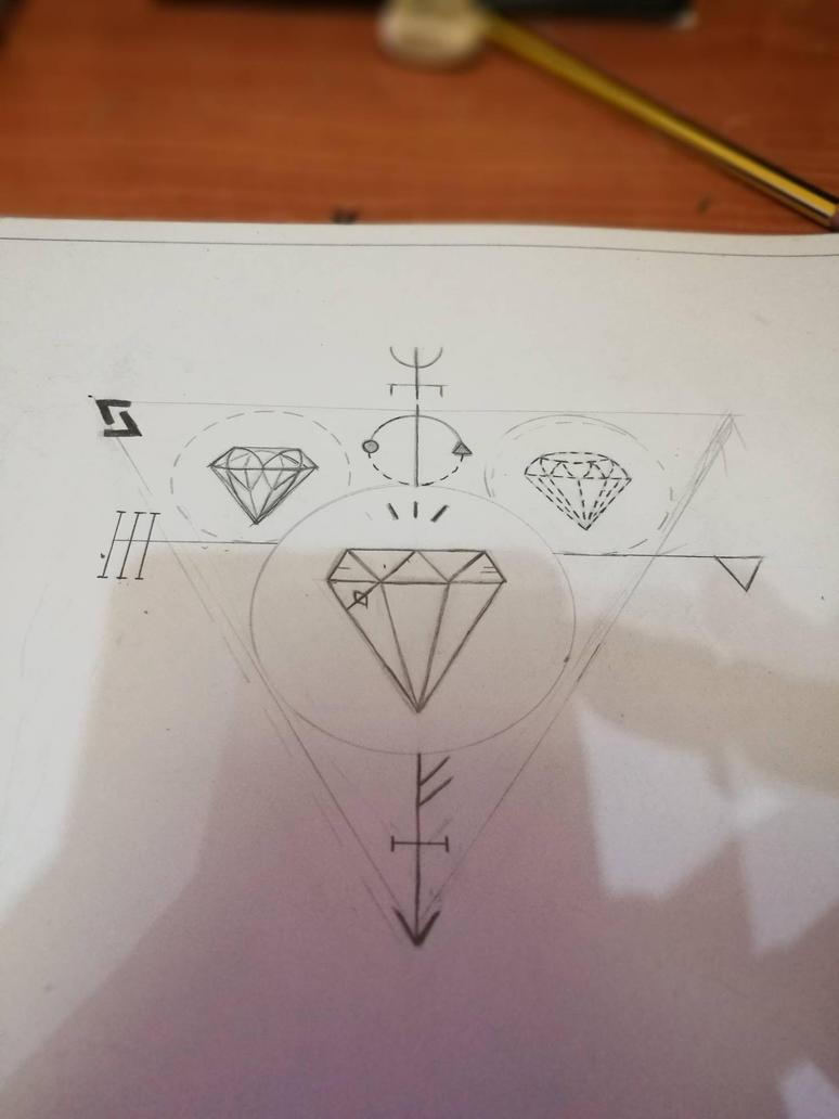 boceto diamantes by enagur