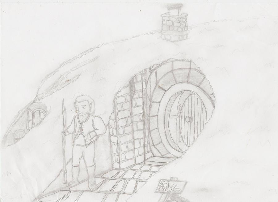 Black Hole Sketch Hobbit Hole Sketch by