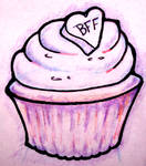 cupcake line art by turtletim