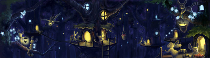 Treehouse Village by aragornbird